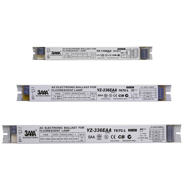 3AAA YZ-136EAA YZ-236EAA YZ-336EAA T8/TC-L 220V 1*36W 3*36W T8 Electronic  Ballast For T8 Fluorescent Lamp Advertising Light Box