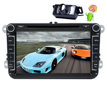 Android 5.1.1 Double 2 Din Car DVD Player in Dash Autoradio Stereo 3D GPS Navigation Headunit For VW DVD Player Camera Canbus