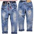 3926 4-7 jeans meninos crianças calças de brim do furo calças calça casual menino calça casual calças menino primavera outono moda das crianças novo