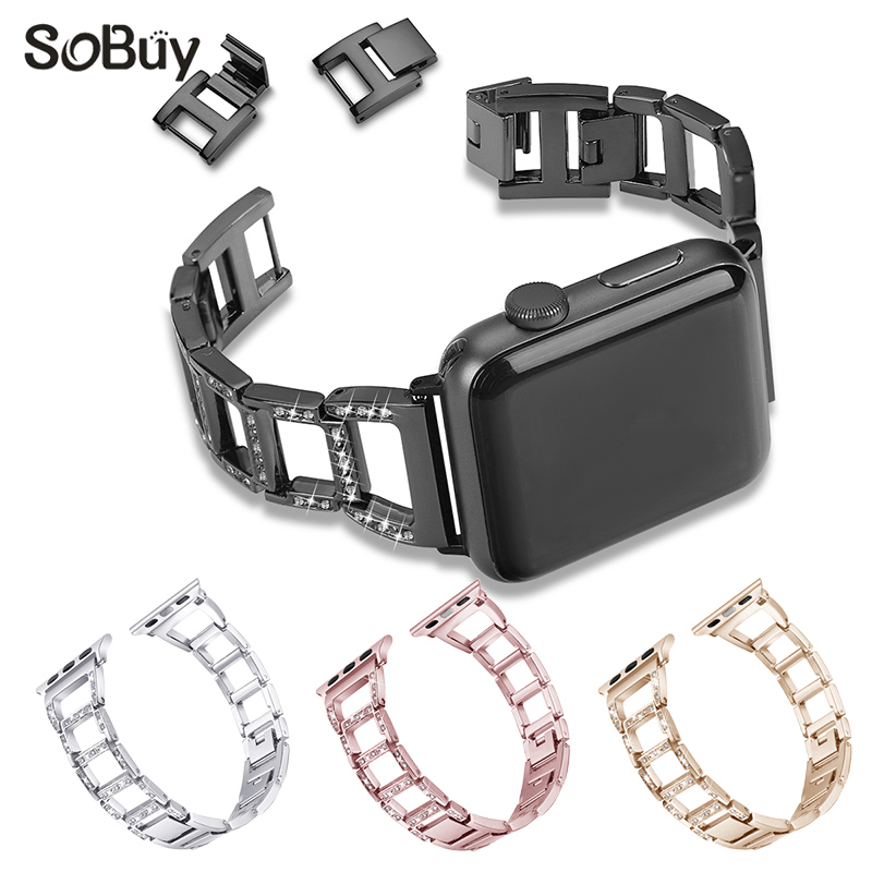 IDG alloy stainless steel watch strap for apple watch band 42mm 38mm bracelet wirst strap for iwatch 1/2/3 series metal band black silver u shape aluminium alloy stand docking charger station holder for apple watch iwatch