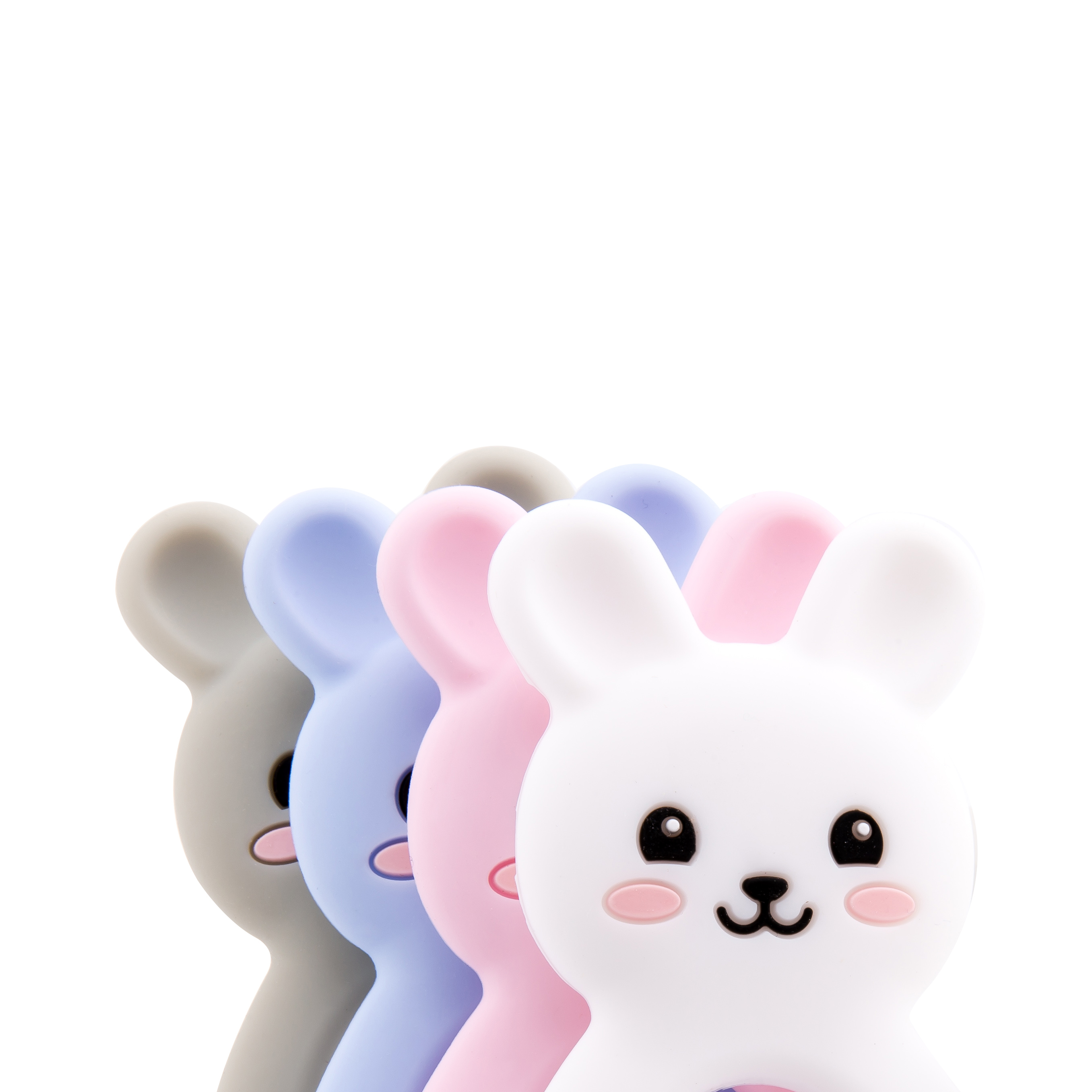 Let's Make Silicone Teethers Food Grade DIY 5 Pcs Baby Shower Gift Birth Cartoon Rabbit Teether For Teeth Baby Product Teething