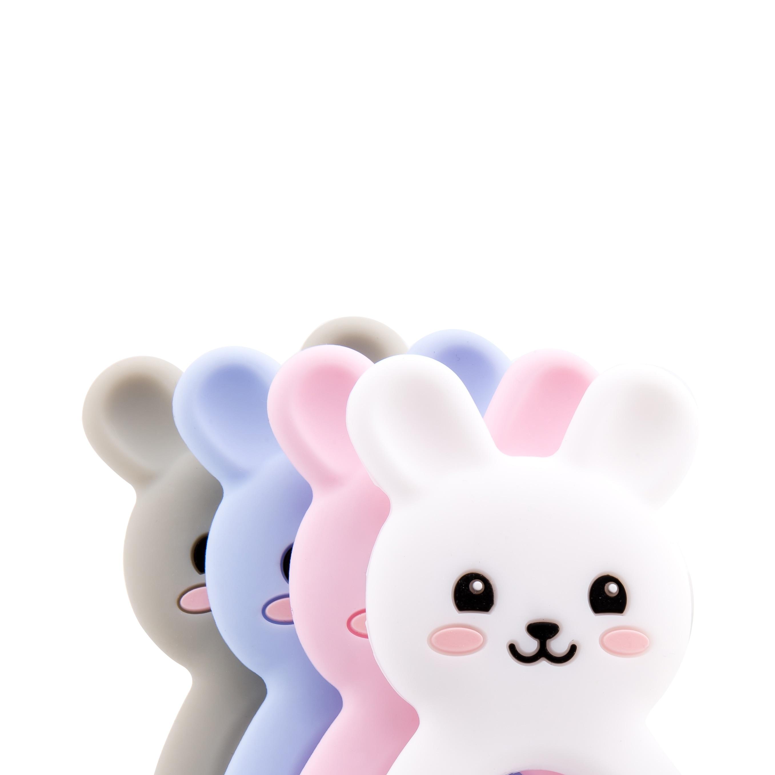 Let's Make Silicone Teethers Food Grade DIY 5 Pcs Baby Shower Gift Birth Cartoon Rabbit Teether For Teeth Baby Product Teething