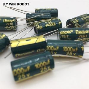 Image 5 - شحن مجاني 10 قطعة مكثف كهربائي من الألومنيوم 1000 فائق التوهج 25 فولت 10*20 مكثف كهربائيا رائج البيع