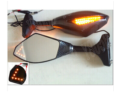 Motorcycle Carbon LED Turn Signal Mirrors For BMW S1000RR K1600 GT/GTL K1300 S/R/GT K1200R/S R1200R/RT/S/ST/GS F800S/ST/R s1000rr turn led lights