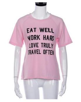 Iyi Yemek çalışma Sert Aşk Gerçekten Seyahat Genellikle T Shirt Kız
