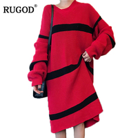 RUGOD Striped Casual Stylish Sweater Women Winter And Spring Long Sleeve Loose Pullover Fashionable Hot Sale Winter Clothes