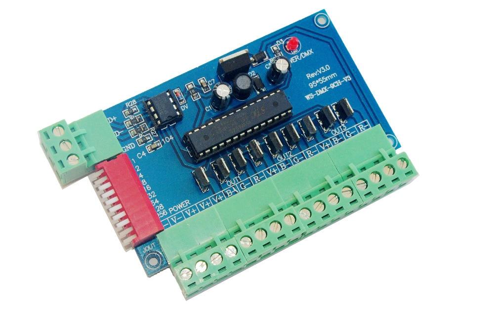 Rgb-controller Beleuchtung Zubehör Beste Preis 1 Stücke 3 Ch Dmx 512 Controller Konstante Spannung Gemeinsame Anode Led Controller Led Decoder