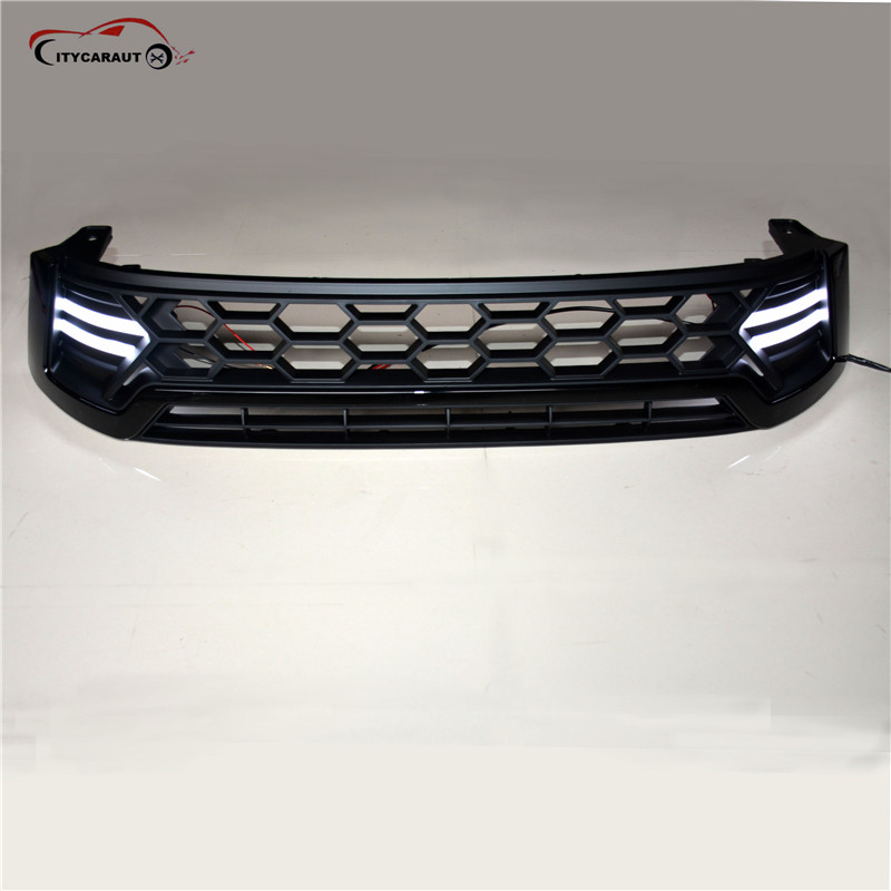 2016-2017 LED Raptor Grille For Toyota Hilux revo Front Grill Cover Black Raptor Grille Accessories For Hilux REVO 2016 toyota hilux revo window accessories abs chrome window gate trim for toyota hilux revo 2015 2016 chrome decoretive trim