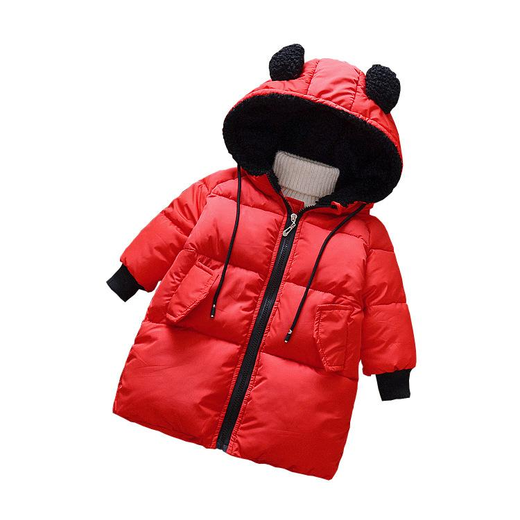 Children's Winter Jackets Duck Down Padded Children Clothing 2018 Girl Boys Warm Coat Thickening Outerwear Hooded Jacket joobox brand men winter jacket mens casual detachable hooded cotton padded coat male thickening warm clothing black and gray
