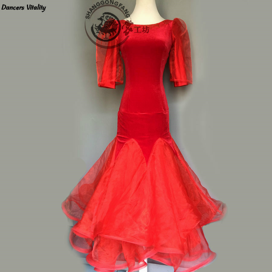 2017 New Women Many Colours  Latin Dance Dress Latin Dance Costume Adult Child Dance Performance For Competition Wear 120-180cm