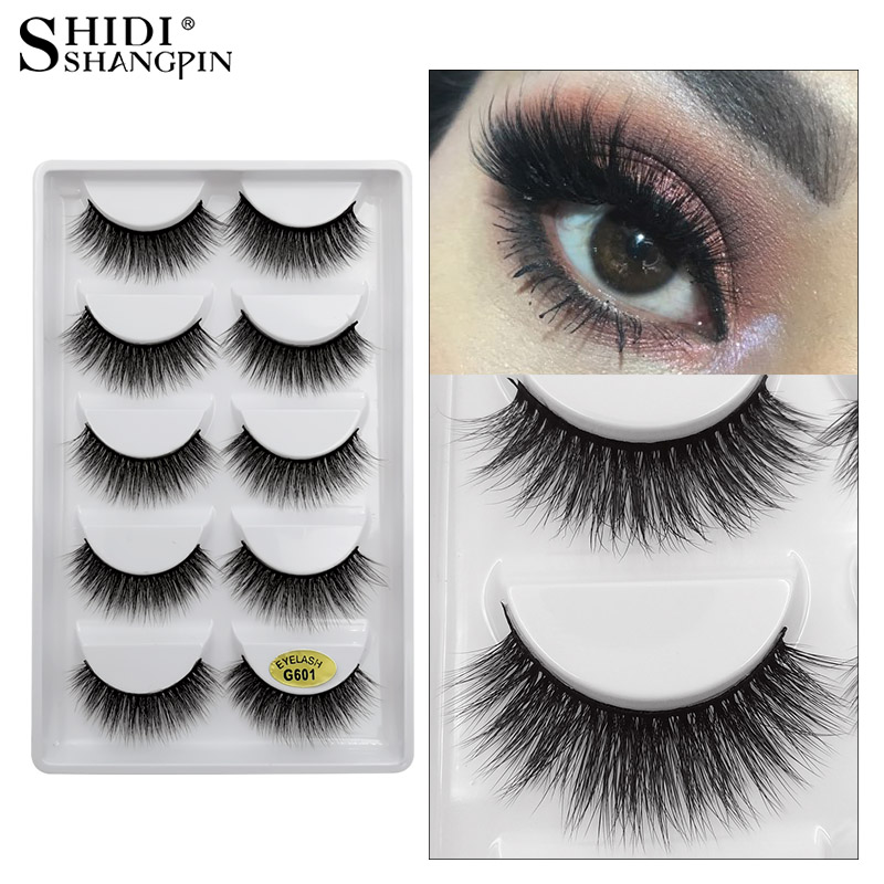 5 Pairs Mink Eyelashes False Eyelashes Natural Handmade 3d Mink Lashes False Eyelash Extensions Makeups Cilios Lashes Maquiagem