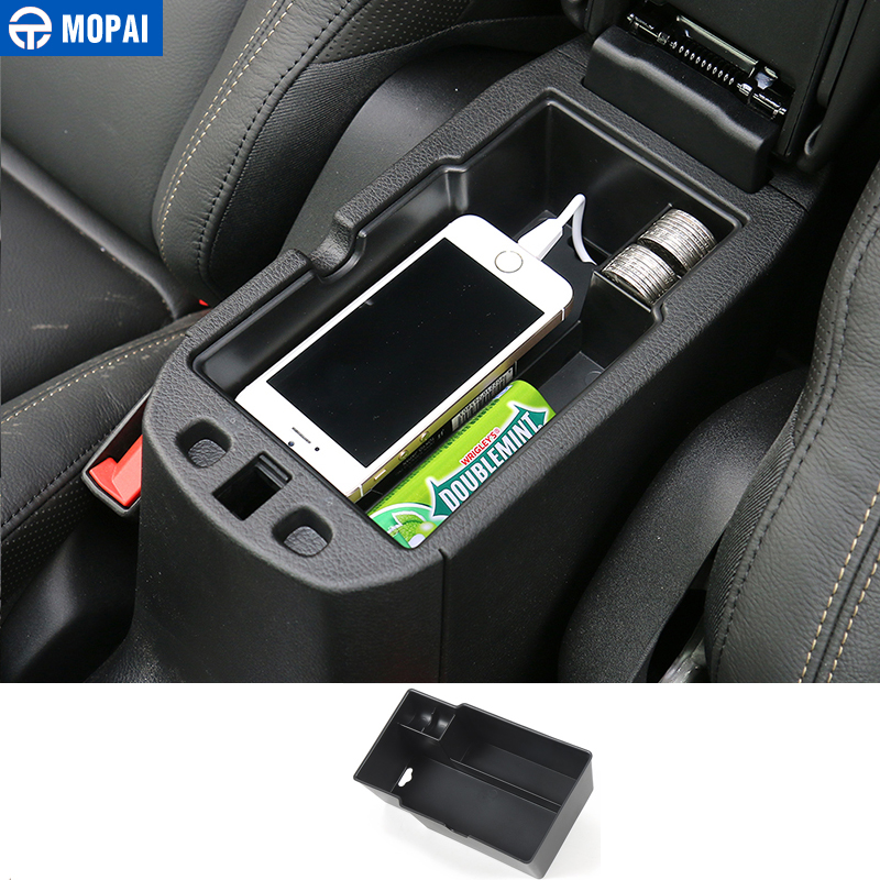 MOPAI ABS Car font b Interior b font Armrest Storage Box Decoration Glove Box Tray For