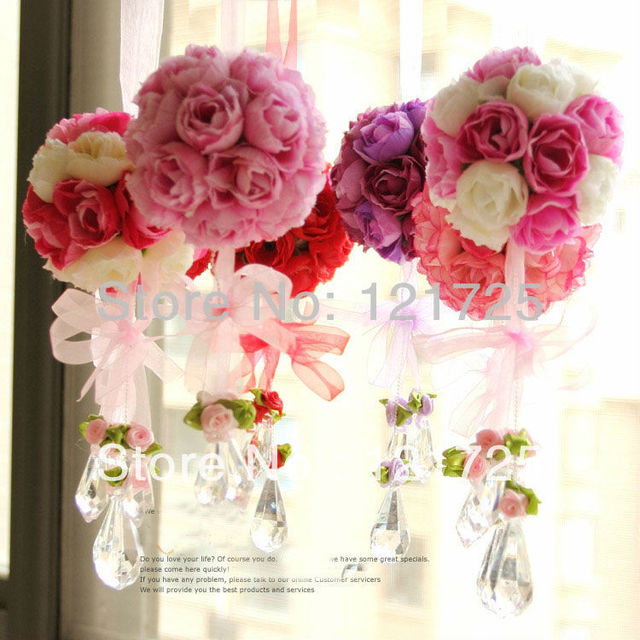 Artificial flowers rose ball silk flower real touch rose ball for artificial flowers rose ball silk flower real touch rose ball for wedding party home decorations mightylinksfo Gallery