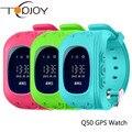Q50 GPS Relógio Inteligente Seguro Garoto Relógio Inteligente Relógio de Pulso SOS ligue Location Finder Localizador Rastreador para o Miúdo Criança Anti Perdido Monitor de