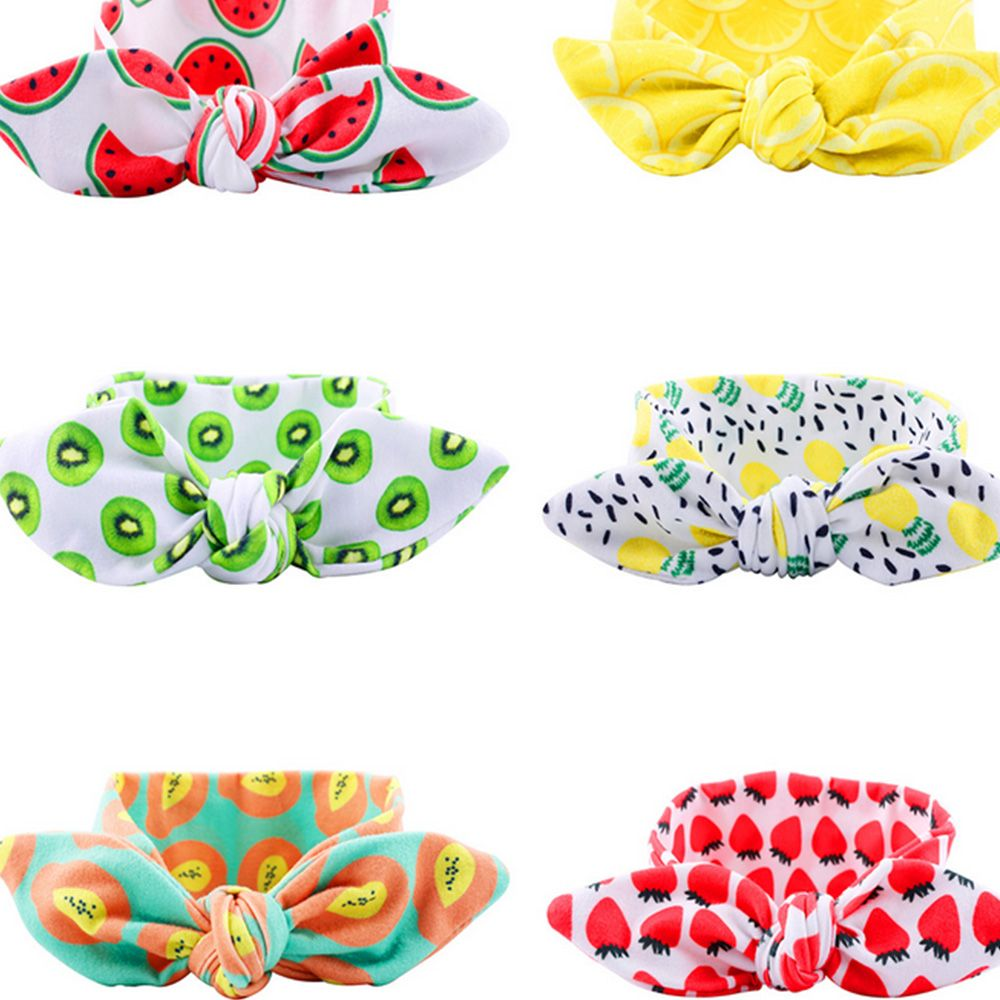 Baby Bow Headband For Girls Kids Soft Elastic Round Head Wrap Newborn Bohemia Girl Hairband Hair Accessories