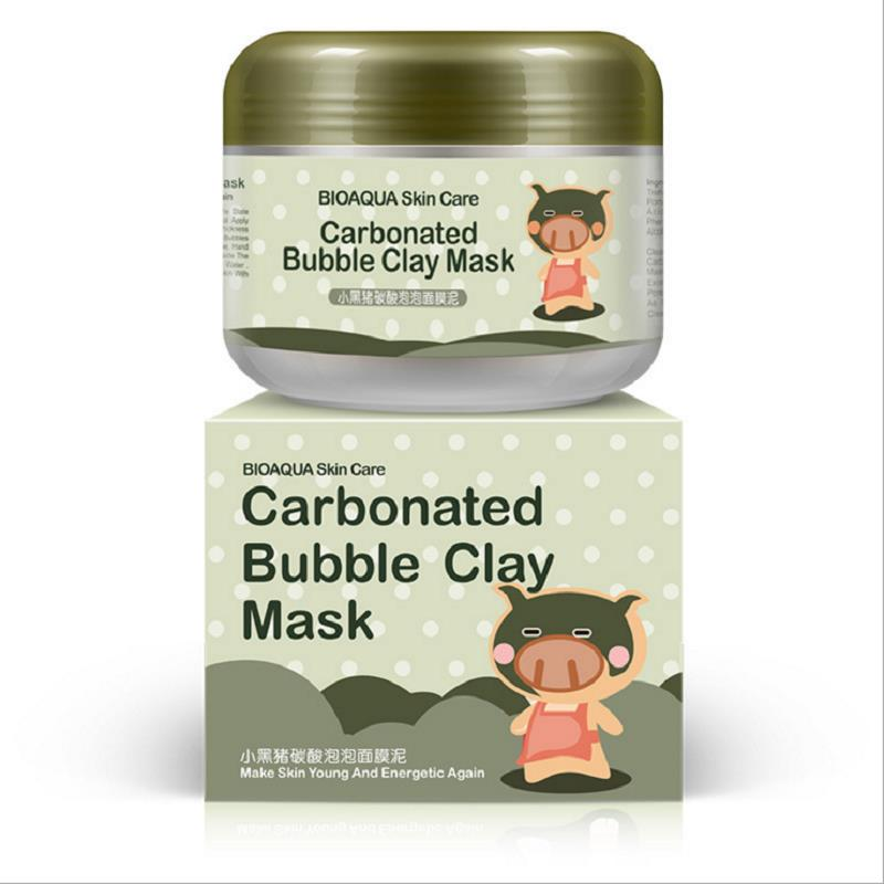 Free-Shipping-Little-Black-Pig-oxygen-Carbonated-bubble-Mud-Mask-100g-deep-clean-Whitening-Facial-Masks
