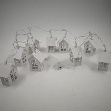 Christmas House Shaped LED String Light Garland