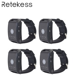 4pcs Hospital Nurse Call Watch Receiver 4 Channel 433MHz Wireless Pager Emergency Call Button For The Elderly Patient Service