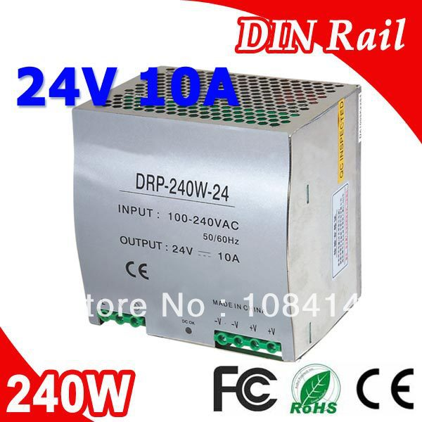 DR-240-24 Single Output LED Din Rail Power Supply Transformer 240W DC 24V 10A Output SMPS dr 240 24 high quality single output led dc 240w 24vdc 10a din rail power supply transformer switching power supply