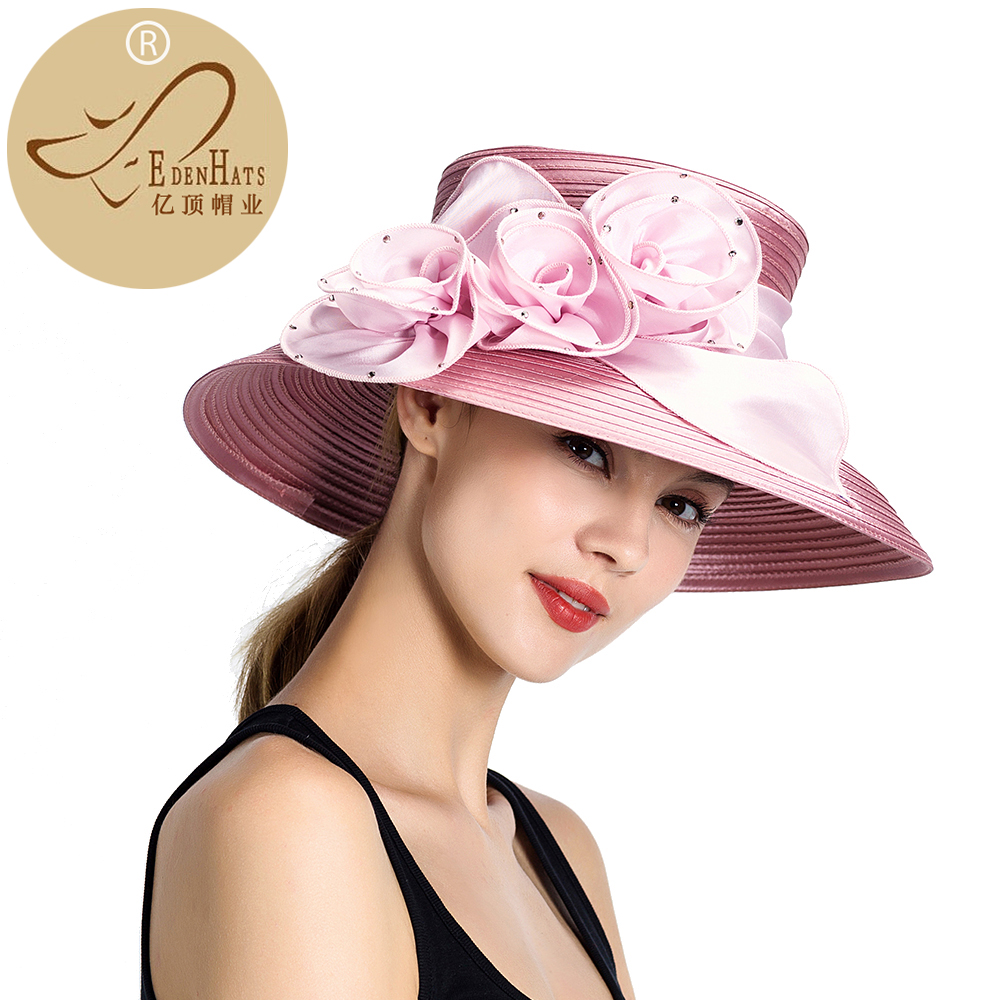 Fashion Womens Hats Kentucky Derby Hat Knit Formal Church hat Visor and Races PP Braid Hat S10-4267