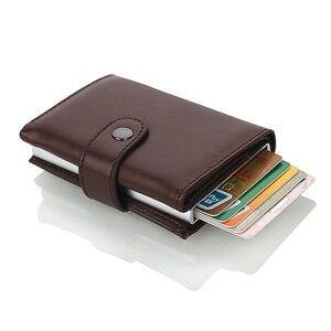 Image 4 - Weduoduo 2019 גבוהה באיכות עור מפוצל אשראי כרטיס בעל Rfid כרטיס מחזיק Rfid חדש עיצוב בנק כרטיס עסקי מקרי כרטיס כיס