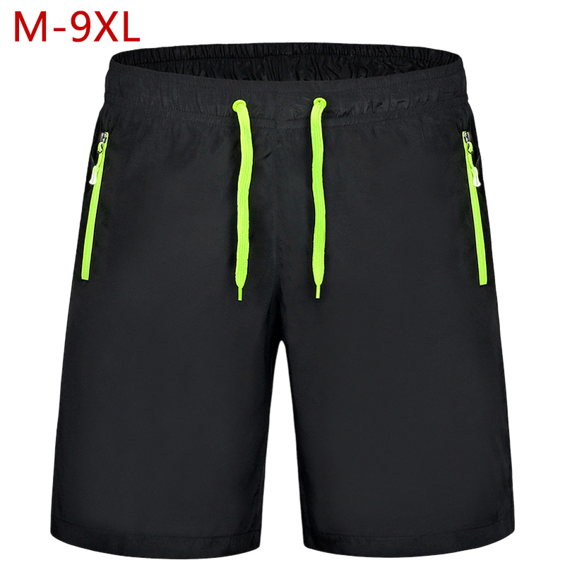 Shorts Men Plus Size 9XL <font><b>8XL</b></font> <font><b>7XL</b></font> <font><b>6XL</b></font> 5XL Summer Variety Men's Sports Shorts Casual Zipper Pocket Jogger Trouser Fitness Breeches image