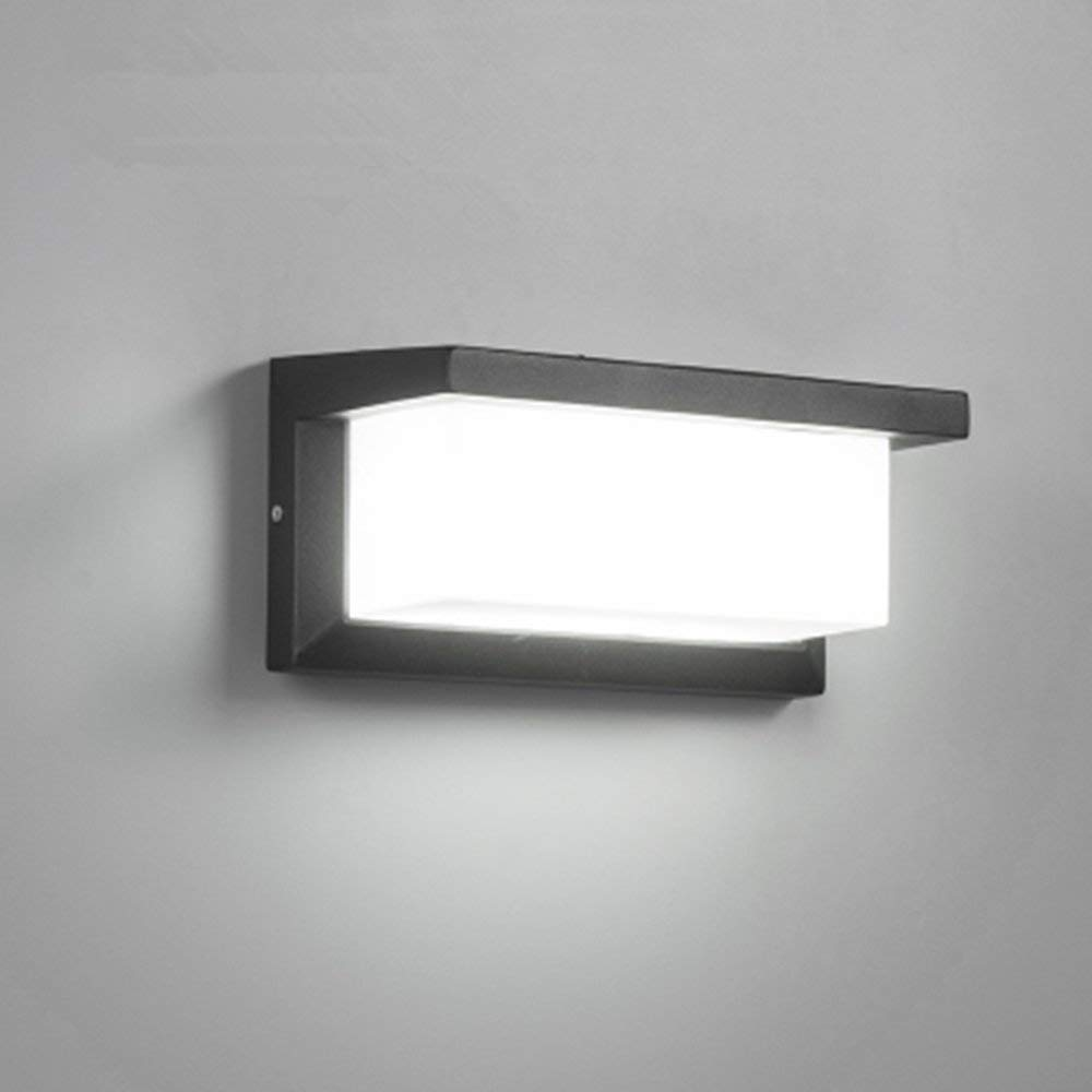 18W Outdoor Lighting Modern Wall Light LED Wall Sconce Square Metal Bulkhead Lights Exterior Waterproof Lighting Fixture