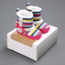 New Winter Super Warm Newborn Baby Boys Girls First Walkers Shoes Infant Toddler Soft Rubber Soled Anti-slip Boots Booties