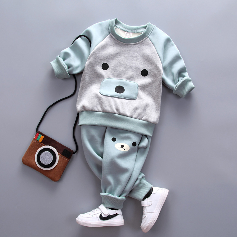 New Winter Thickening Children clothing Sets Warm baby girls clothing cotton kids boys clothes sweatshirts pants