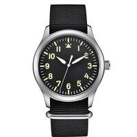 Top Brand Watch Men Nylon Military Men Pilot Watch Water Resistant Automatic Movement Wristwatch Sapphire Luxury Mens Watches