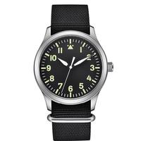 Top Marke Pilot Uhr Männer Nylon Military Wasserdicht Automatische Bewegung Armbanduhr Sapphire Luxus Herren Uhren Mechanische Uhren    -