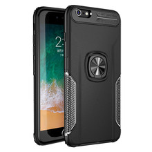 Shockproof Armor Case For iPhone XS Max XR X 6 6S 7 8 Plus 8Plus 6Plus iPhone6 Case iPhone8 Cases iPhone7 Metal Ring Stand Cover(China)
