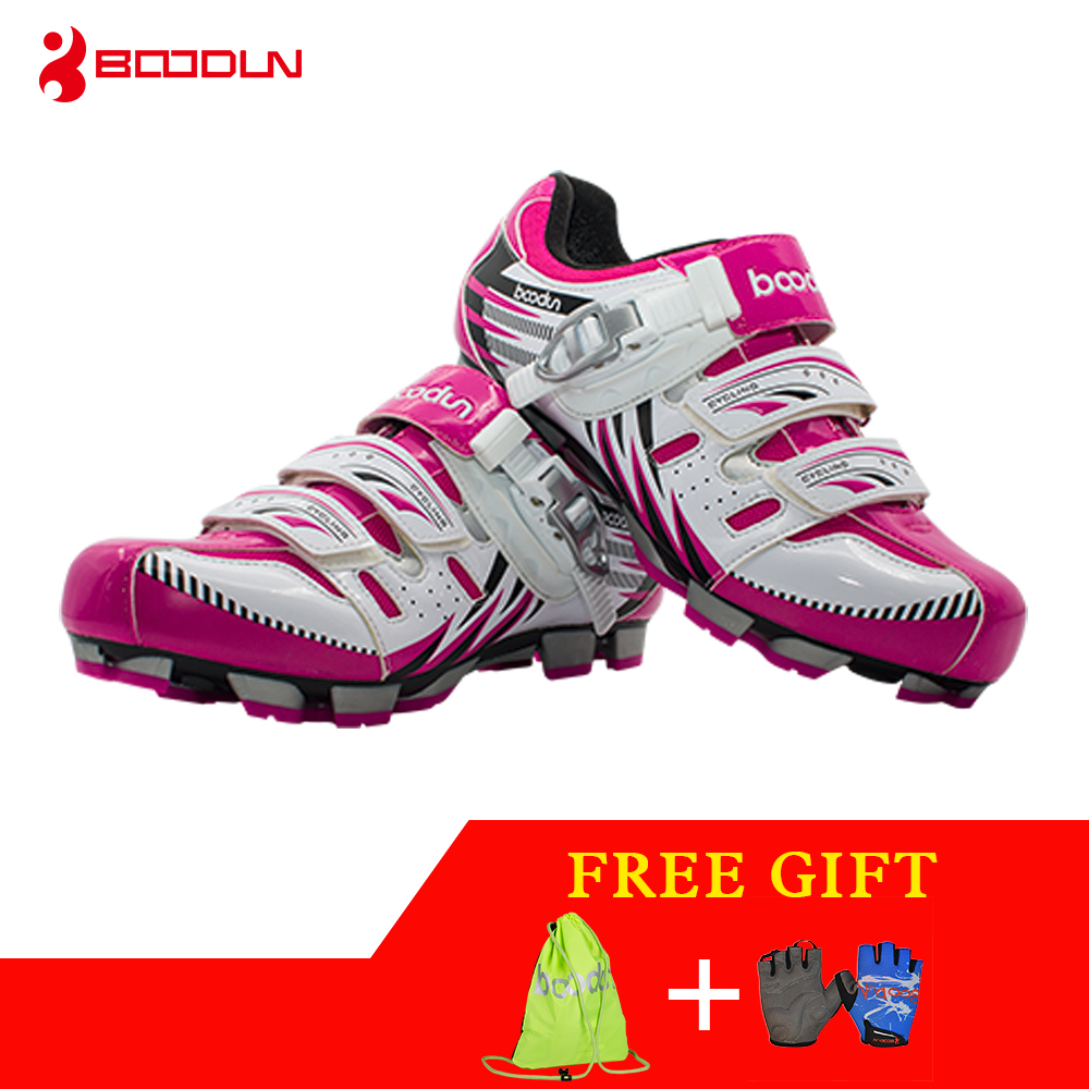 Boodun Breathable Mountain Riding Shoes Leisure Sports Road Riding Lock Shoes Cycling Shoes Women