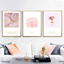 Ferris Wheel Canvas Painting Paris Landscape Posters And Prints Pink Flowers Art Poster Nordic Decoration Home Unframed