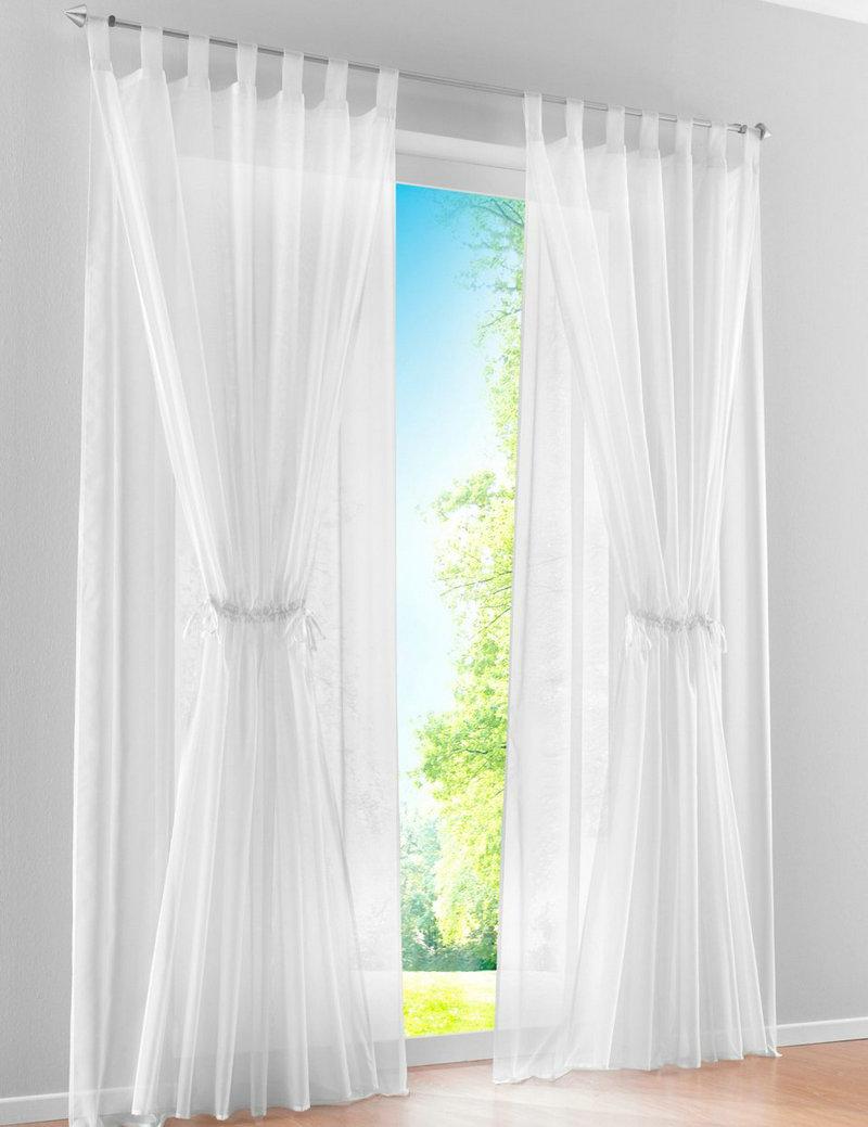 Neue mediterrane Doppelschicht-Design schiere Voile Wohnzimmer Fenstervorhänge (2 Platten)
