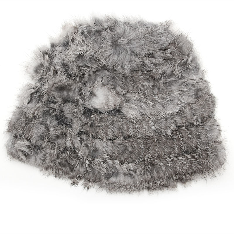 Hot Sale Russian Lady Rabbit Fur Knitted Cap Women Beanie Hat Warm Winter Fashion hot sale cayler