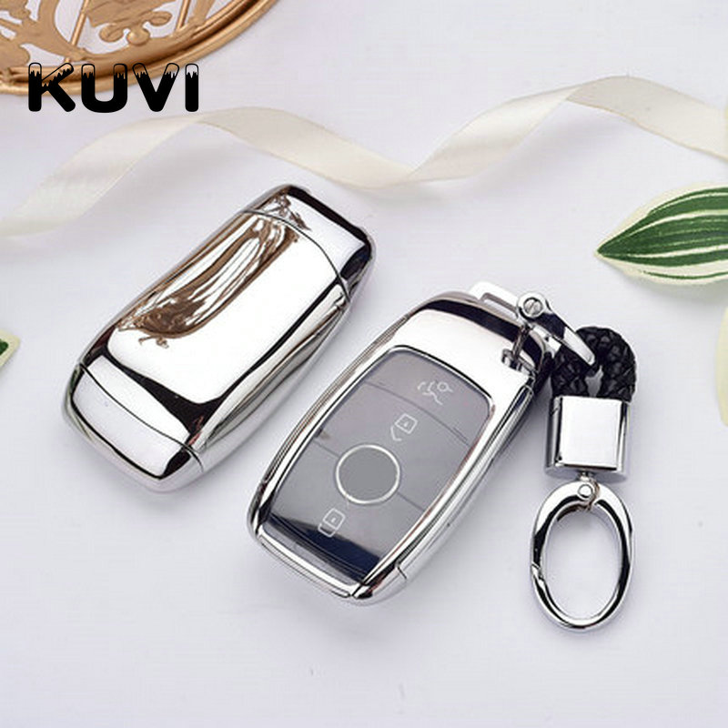 Hight quality Tpu Car Key Cover Case Shell Bag Protective Key Ring For Mercedes Benz 2017 E Class W213 2018 S class Accessories