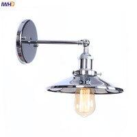 Espelho de Prata Do Vintage Luzes de Parede LEVOU Wandlamp IWHD E27 4 W Luminária Luz Ao Lado Da Lâmpada de Parede Sótão Retro Applique Murale iluminação|Luminárias de parede| |  -