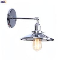 IWHD Silver Mirror Vintage Wall Lights LED Wandlamp E27 4W Loft Retro Wall Light Beside Lamp Applique Murale Luminaire Lighting