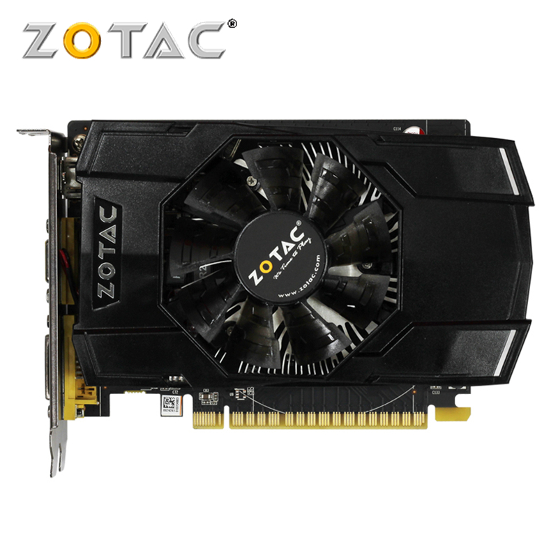 ZOTAC Video Card GeForce GTX 750 1GB 128Bit GDDR5 Graphics Cards for nVIDIA Original Map GTX750-1GD5 Internet Hdmi Dvi VGA видеокарта asus geforce gtx 1060 1620mhz pci e 3 0 6144mb 8208mhz 192 bit dvi hdmi hdcp rog strix gtx1060 o6g gaming