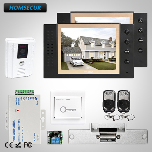 HOMSECUR 8 Hands-free Video Door Phone Intercom System Electric Lock Supported TC011-W + TM801-BHOMSECUR 8 Hands-free Video Door Phone Intercom System Electric Lock Supported TC011-W + TM801-B