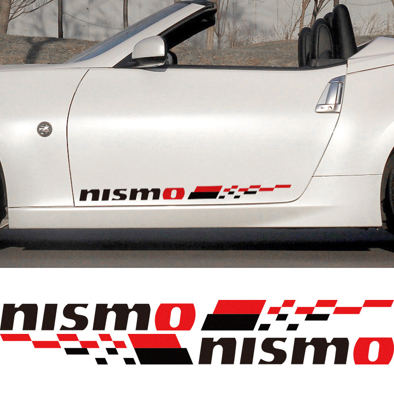 3 Pairs Customization NISMO Car Door Stickers decal Car Styling For ...