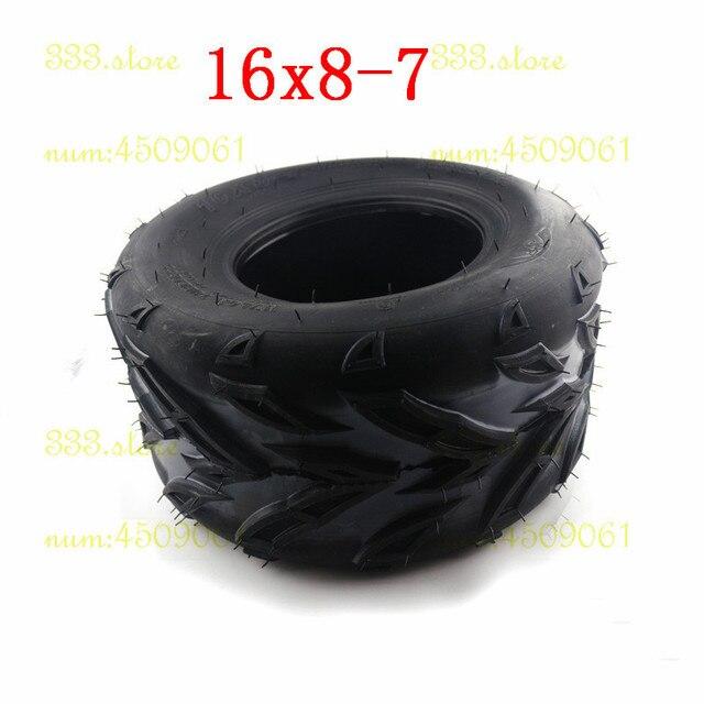 16X8-7 'pouces chambre à air Atv 7 pouces pneu roue 50 70 110 125cc ATV Quad Buggy vélo aller Kart Dune 16x8-7 petit taureau chambre à air