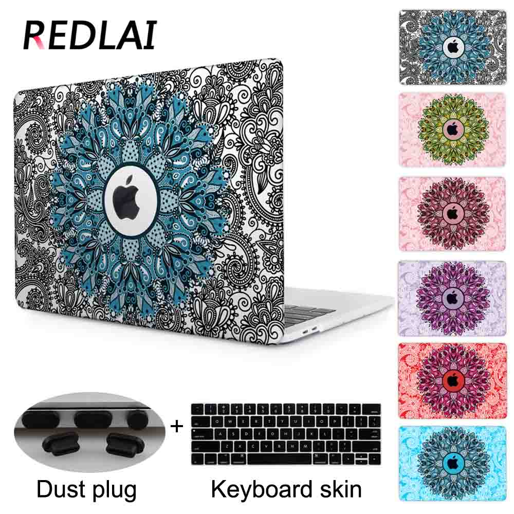 Redlai Mandala Pattern 5 Colors Air 13.3 Air 11 Hard Cover Case For Macbook Pro 13 Pro 15 Newest 2016 & 2017 Pro 13 Touch bar