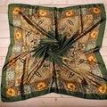 1 ШТ. 90*90 см Мода Шелковый Цветок Печатных бандана шарф cachecol шали для Женщин платки bufandas костюм А2