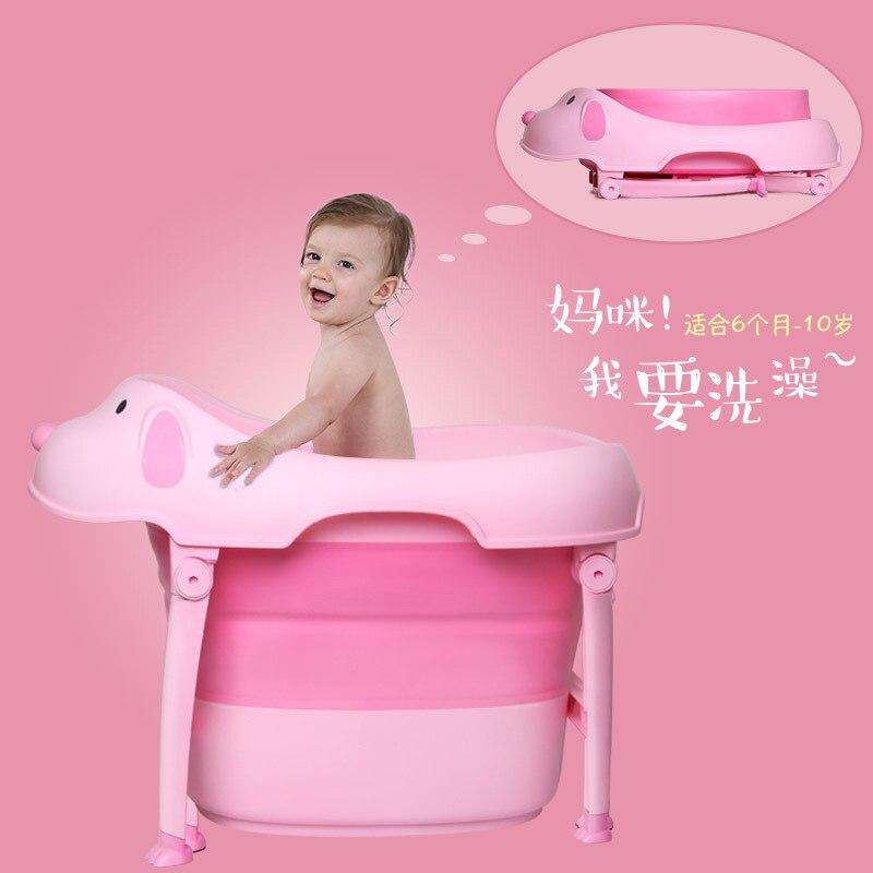 Newborn Plastic  Large Size Easy Folding Baby Bath Tub Infants  Kids Bath Tub with Bath Mat 0-10YNewborn Plastic  Large Size Easy Folding Baby Bath Tub Infants  Kids Bath Tub with Bath Mat 0-10Y