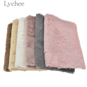Lychee A4 Fur Soft Fake Fur Fabric High Quality Sewing Synthetic Leather DIY Material For Handbag Garments(China)