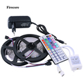 10M 5050 RGB Strip Light  2*5m Waterproof Led Strips +44 Key IR Remote Controller +DC12V 2A Power EU/US/AU Adapter WLED52