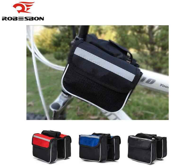 ROBESBON 3 colors option Bicycle Cycling Bag Bike Top Tube Saddle Bag Bicycle Frame Pannier Bag Rack Bicycle Accessories