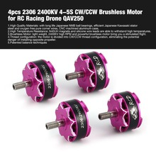 4pcs 2306 2400KV 4-5S CW/CCW Brushless Motor for RC Remote Control FPV Racing Drone Multicopter Propeller QAV250 DIY hi